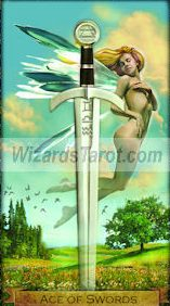 Wizards Ace of Swords