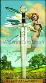 Wizards Ace of Swords