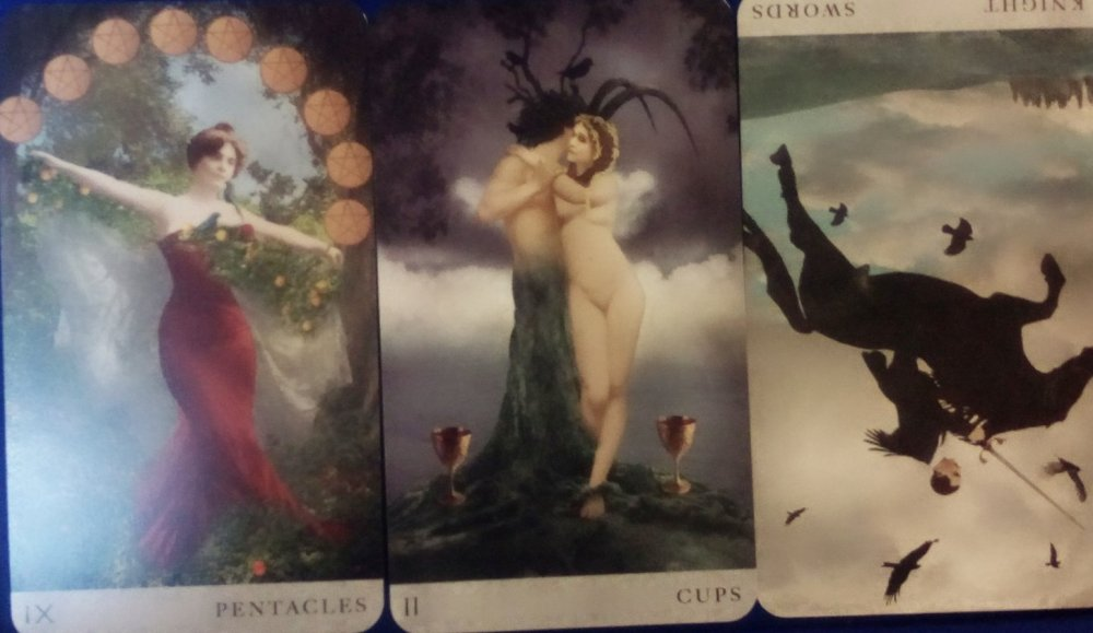 ChattingwithTarot – 9 of Pentacles, 2 of Cups + Knight of